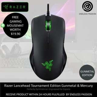 Razer Lancehead Tournament Ambidextrous Gaming Mouse Gunmetal/Mecury Edition