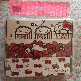 Hello kitty mini box tissues