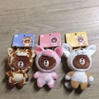 🚚 Line熊大吊飾
