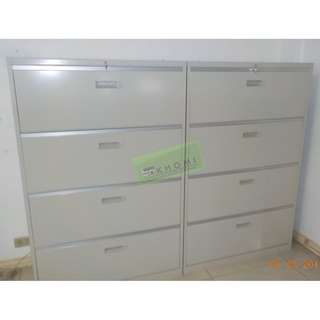 lateral cabinet 4 layer light gray office furniture