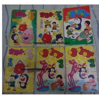 "Vintage Hong Kong Comic Doraemon (SUPER RARE) 80年代 6本經典漫畫""叮噹""系列 非常珍稀"