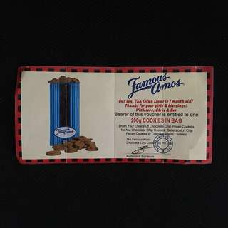 Famous Amos Cookie $10 Voucher 200g