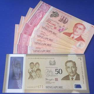 Singapore SG50 set $50+4pc $10 ( include box)