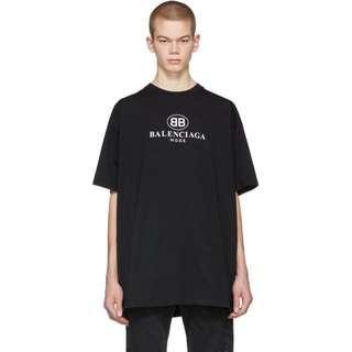 Balenciaga Black BB mode oversized t-shirt
