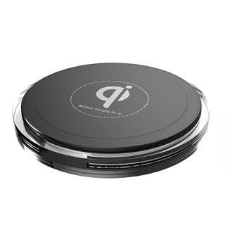 Qi Enabled Wireless Charger - Single Coil, Support 5W, 7.5W, 10W Function, Supports iPhone Samsung Galaxy and more (Black) (CVAIA-A866)