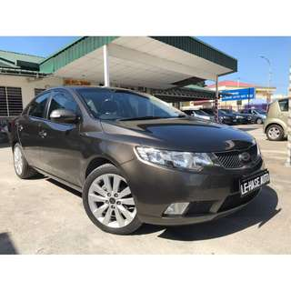 (LIKE NEW)2011 Kia Forte 1.6SX (A) P/START F/LOAN