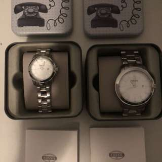 Brand New Fossil His and Hers Watch