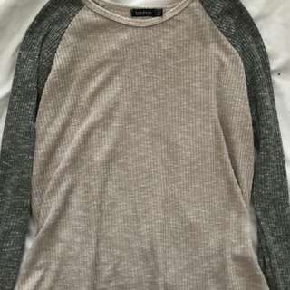Two tone long sleeve