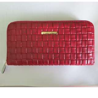 Michaela Long zip wallet (Red)