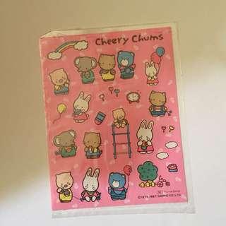 Sanrio vintage Cheery Chums 貼紙 1987