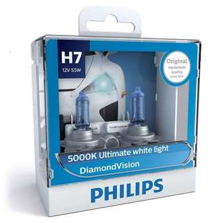 Philips DiamondVision Halogen 12972DVS2 H7 12V 55W (Pair)