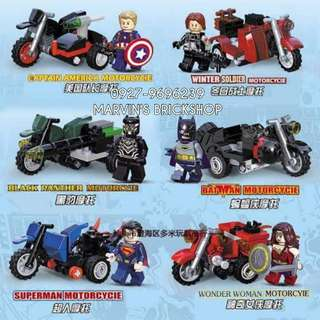 For Sale Super Heroes with Tricycle 6in1 Building Blocks Toy