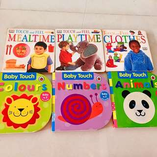 Baby Touch & Touch and Feel Board Books (6 bks)