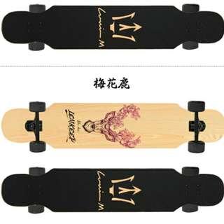 Long Board longboard skateboard (Deer design)