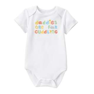 Gymboree Authentic Cotton Daddies Are For Cuddling Unisex Baby Toddler Romper