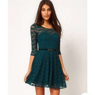 Lace Flare Dress XL