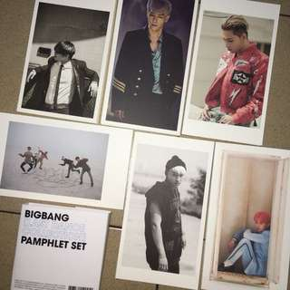 BIGBANG LAST DANCE COLLECTION PAMPHLET SET