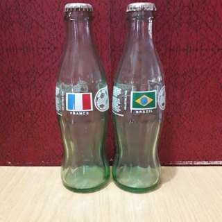 """Coca Cola"" Empty Glass Bottles (4 pcs per set)"