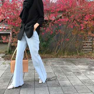 Bleached Flared Jeans