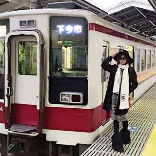 日本澀谷購買 黑色排釦長外套