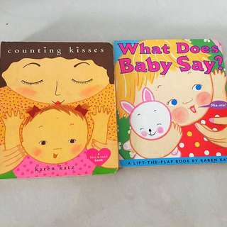 Karen Katz Counting Kisses & What does Baby Say (Board book/ Lift-the-flap)