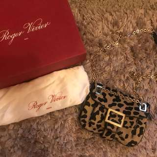 🈹SALE🈹🐆 Authentic Roger Vivier Leopard Shoulder Bag 🐆