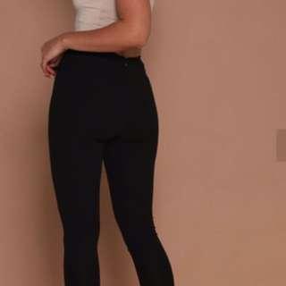 AYVA CIGARETTE PANTS - BLACK