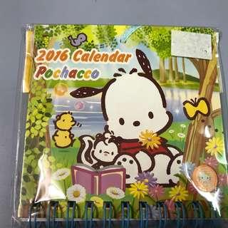 Sanrio Pochacco PC狗 2016年 小月曆一個