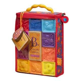 美國 B.Toys One Two Squeeze 寶寶 捏捏樂 軟式積木