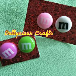 m&m sweet earrings