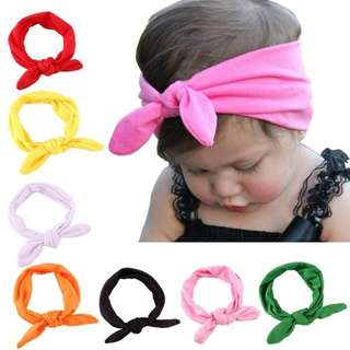 Rabbit 3 for $6 baby headbands
