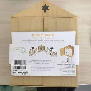Nativity advent calendar (wooden)