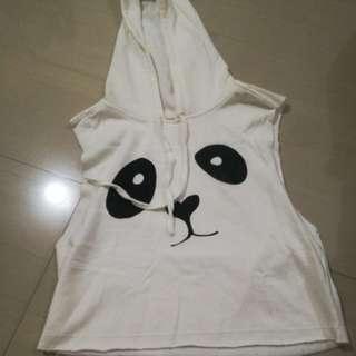 crop top with hoodie