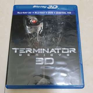 Terminator Genisys 3D and 2D Bluray plus DVD combo pack