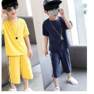 Boys Sporty shirt + pants Set