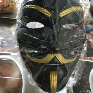 Black anonymous mask V mask promotion only price