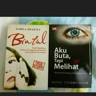 Novel Brutal & Novel Aku Buta Tapi Melihat