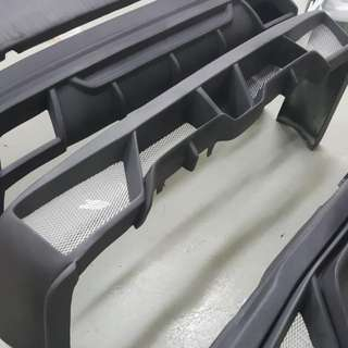 Hiace  SAD AGENT Frp Matt Black Rear Bumper. 1 Pc In Stock Only. Ready Stock. Toyota Hiace Low Roof Euro 3 To Euro6