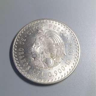 1948年 墨西哥 鹰纪念銀幣