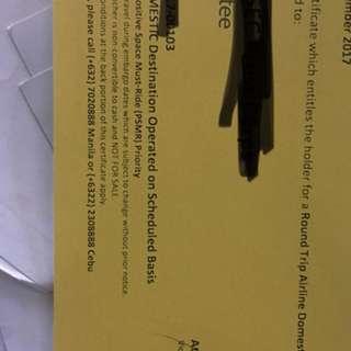 Cebu Pacific airline ticket round trip