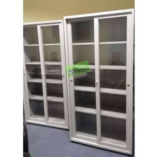5 layer glass sliding cabinet (office furniture)