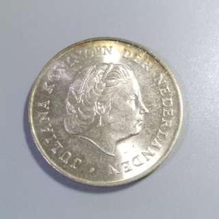 1964年 荷蘭2.5 銀幣