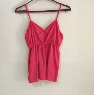 Cotton on coral baby doll top