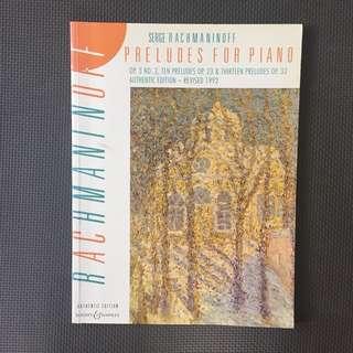 Rachmaninoff piano book scores