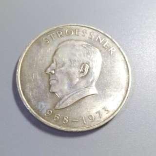 1973年 巴拉圭 300銀幣
