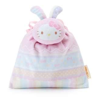 日本代購 sanrio 專門店 2018年 1月 hello kitty 耳朵吉祥抽繩糖果袋套裝