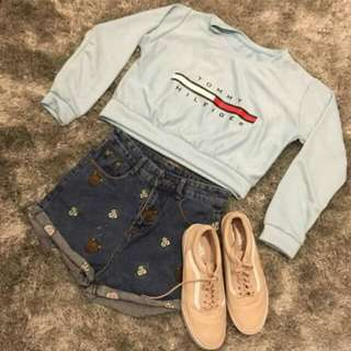 Pull over croptop