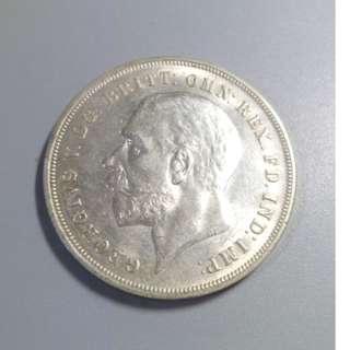 1935年 英國 喬治五世像銀幣