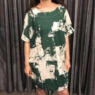 專櫃墨綠洋裝