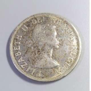 1958年 加拿大 一元銀幣